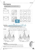 Formen und Muster - Figuren nachzeichnen und vervollständigen Preview 2
