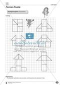 Formen und Muster - Puzzle vervollständigen und Figuren nachlegen Preview 4