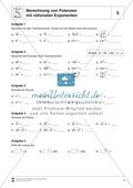 Aufgaben zur Berechnung von Potenzen mit rationalen Exponenten Preview 1