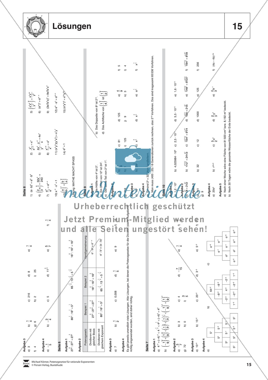 Tolle Exponenten üben Arbeitsblatt Fotos - Super Lehrer ...