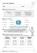 Mathematik, Zahlen & Operationen, schriftliches Rechnen, schriftliche multiplikation