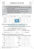 Aufgaben zur Multiplikation von Dezimalzahlen mit 10, 100 und 1000 Preview 4