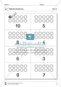 Ziffern und Mengen im Zahlenraum bis Zehn: Mengenbilder - Punkte Preview 4