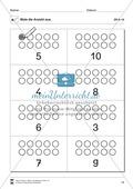Ziffern und Mengen im Zahlenraum bis Zehn: Mengenbilder - Punkte Preview 9