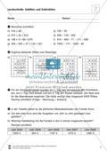 Gemischte Übungen zur schriftlichen Addition und Subtraktion Preview 4