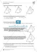 Körperberechnungen: Oberfläche der Pyramide Preview 2