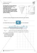 Geometrische Körper: Kegelvolumen berechnen Preview 1