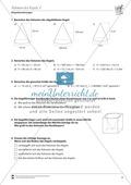 Geometrische Körper: Kegelvolumen berechnen Preview 2