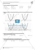 Aufgaben zur graphischen Lösung quadratischer Gleichungen Preview 2