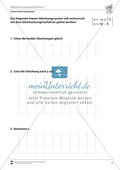 Gleichsetzungsverfahren zur Lösung linearer Gleichungssysteme Preview 1