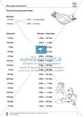 Größeneinheiten: Aufgaben zum Umrechnen der Zeiteinheiten Minute und Sekunde Preview 2