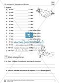 Größeneinheiten: Aufgaben zum Umrechnen der Zeiteinheiten Minute und Sekunde Preview 3