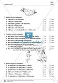 Größeneinheiten: Aufgaben zum Umrechnen der Zeiteinheiten Minute und Sekunde Preview 4