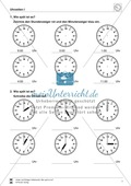 Uhrzeiten: Übungen zur vollen und halben Stunde Preview 1