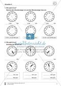Uhrzeiten: Übungen zur vollen und halben Stunde Preview 2