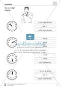 Uhrzeiten: Übungen zur vollen und halben Stunde Preview 3