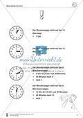 Uhrzeiten: Übungen zur vollen und halben Stunde Preview 4