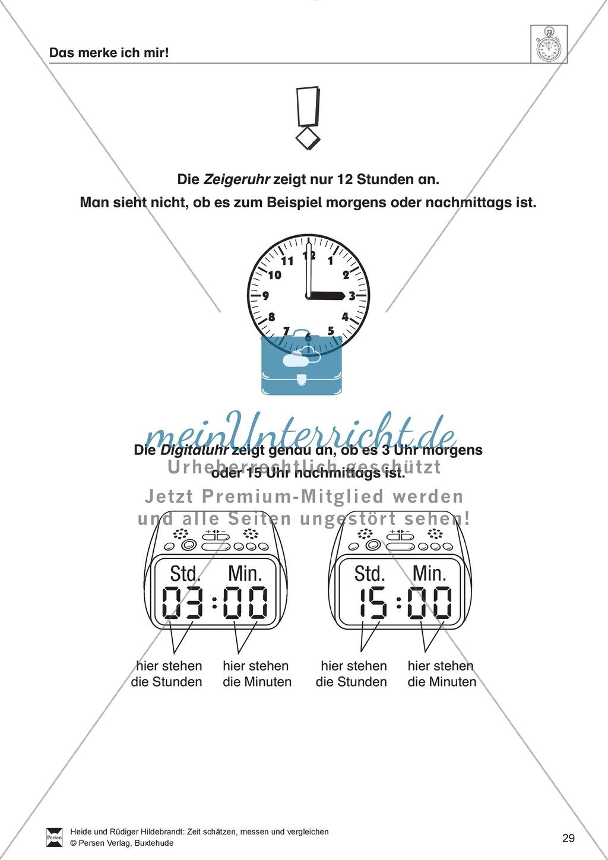 Berühmt Digitaluhr Einer Tabelle Ks2 Galerie - Mathe Arbeitsblatt ...