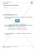 Lineare Gleichungen: Übungen zu den binomischen Formeln Preview 1