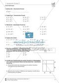Lineare Gleichungen: Übungen zu den binomischen Formeln Preview 2
