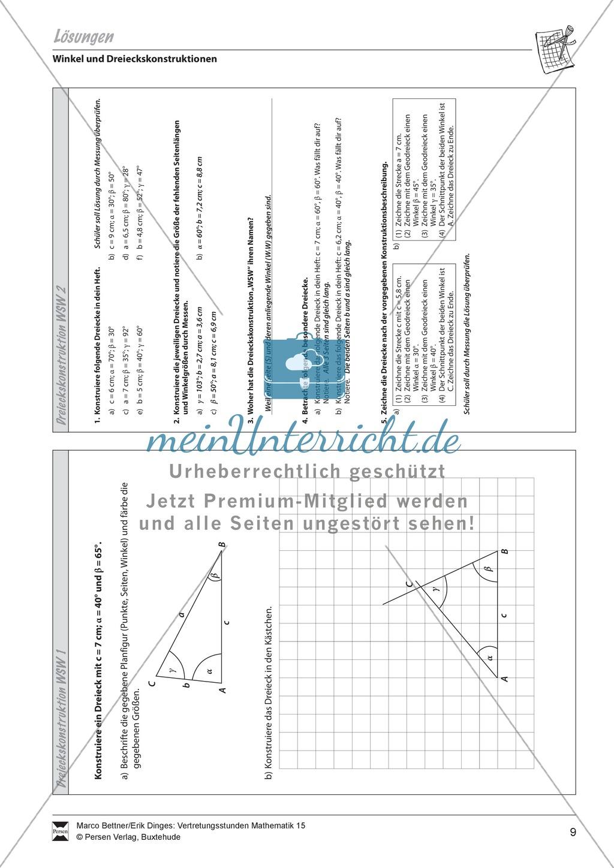 Dreieckskonstruktion unter Angabe von Winkel-Seite-Winkel Preview 2