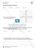 Lineare Funktionen: Übungen zur Steigung m Preview 1