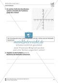 Mathematik, Funktion, funktionaler Zusammenhang, Raum & Form, lineare Funktionen, Analysis, Koordinatensystem, analytische Geometrie, Nullstellen, Geradengleichung