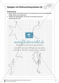 Lernwerkstatt Weihnachten: Symmetrische Eigenschaften von Weihnachtssymbolen entdecken Preview 2