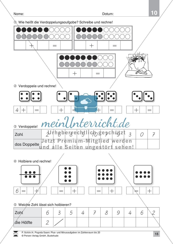 Zahlenraum bis 20: Anschauliche Aufgaben zur Addition und Subtraktion mit Zehnerübergang Preview 14