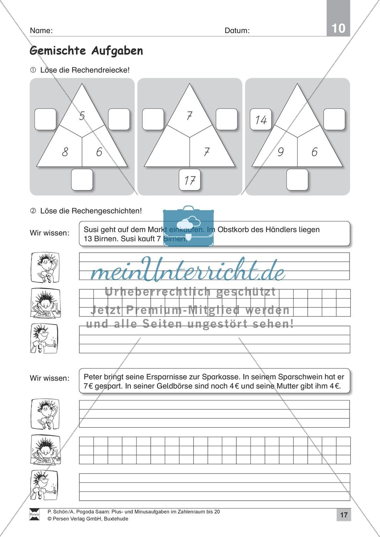 Zahlenraum bis 20: Anschauliche Aufgaben zur Addition und Subtraktion mit Zehnerübergang Preview 16