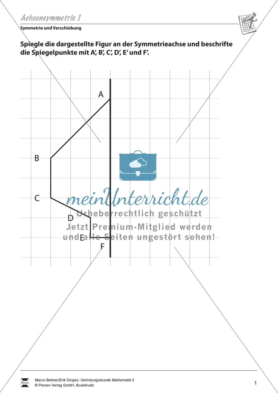 Symmetrie und Verschiebung: Aufgaben zur Wiederholung und Festigung ...