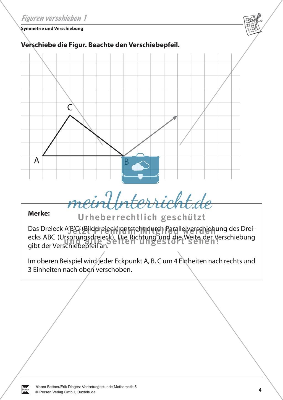Symmetrie und Verschiebung: Einfache Verschiebung von Figuren ...