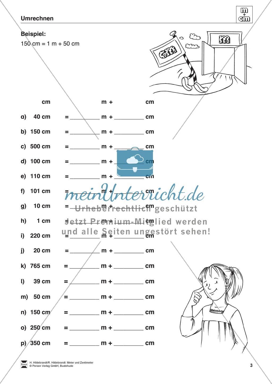 Längeneinheiten Meter und Zentimeter- Wege messen und vergleichen ...