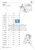 Längeneinheiten Meter und Zentimeter- Wege messen und vergleichen Preview 3