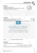 Förderschule Stochastik - Übungen zur Kombinatorik Preview 2