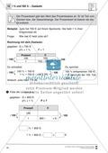 Mathematik, Zahlen & Operationen, Größen & Messen, funktionaler Zusammenhang, Arithmetik, Prozentrechnung, zweisatz