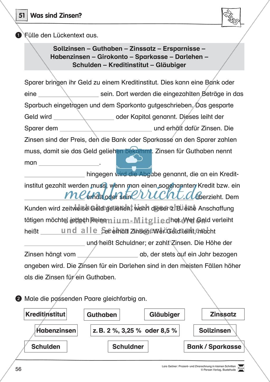 Arithmetik: Infoblatt und Lückentext über die Bezeichnungen bei der ...