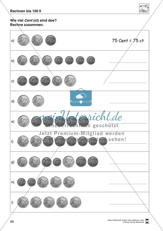 Größenvorstellungen entwickeln - Übungsaufgaben mit der Maßeinheit Geld Preview 42