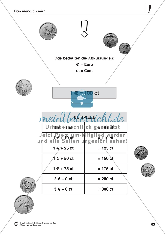 Größenvorstellungen entwickeln - Übungsaufgaben mit der Maßeinheit Geld Preview 49