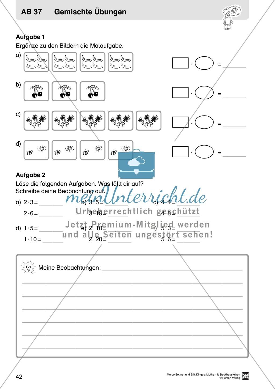 Berühmt 1 Digit Um 1 Digit Multiplikation Arbeitsblatt Bilder ...