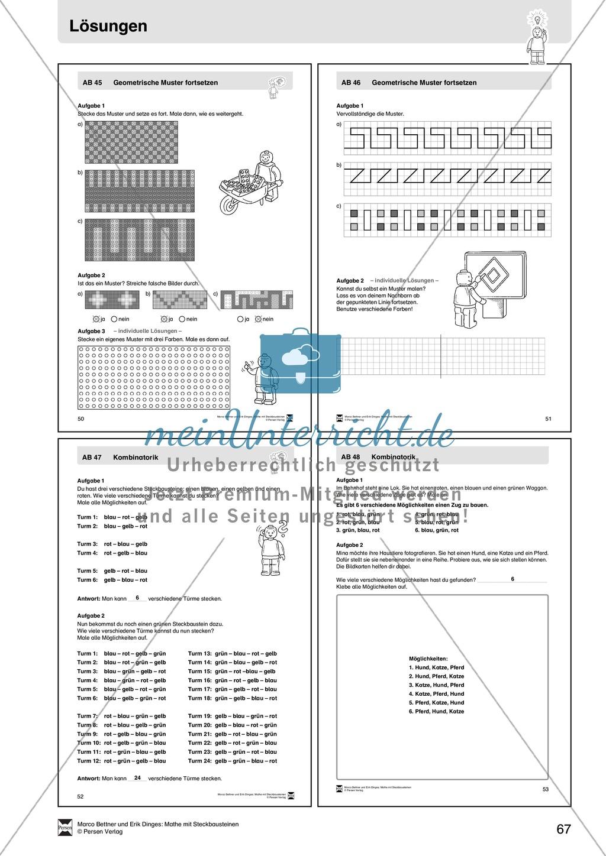 Kopiervorlagen mit praktischen Aufgaben zur Kombinatorik und ...