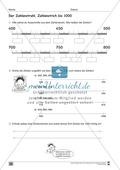 Übungen für den Zahlenraum bis 1000: Arbeitsblätter Thumbnail 20