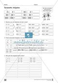 Übungen für den Zahlenraum bis 1000: Arbeitsblätter Thumbnail 34