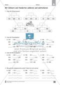 Übungen für den Zahlenraum bis 1000: Arbeitsblätter Thumbnail 37