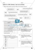 Übungen für den Zahlenraum bis 1000: Arbeitsblätter Thumbnail 7