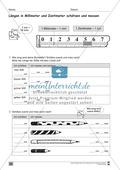 Längen: Millimeter und Zentimeter schätzen Preview 1