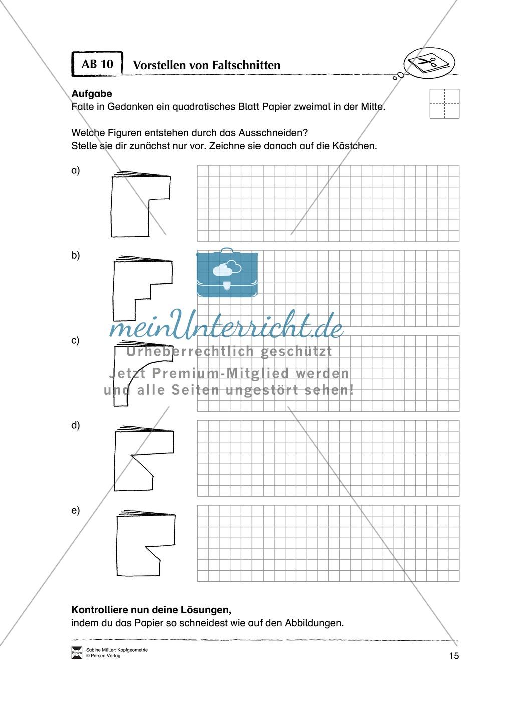 Arbeitsblätter zur Schulung des räumlichen Vorstellungsvermögens Preview 10