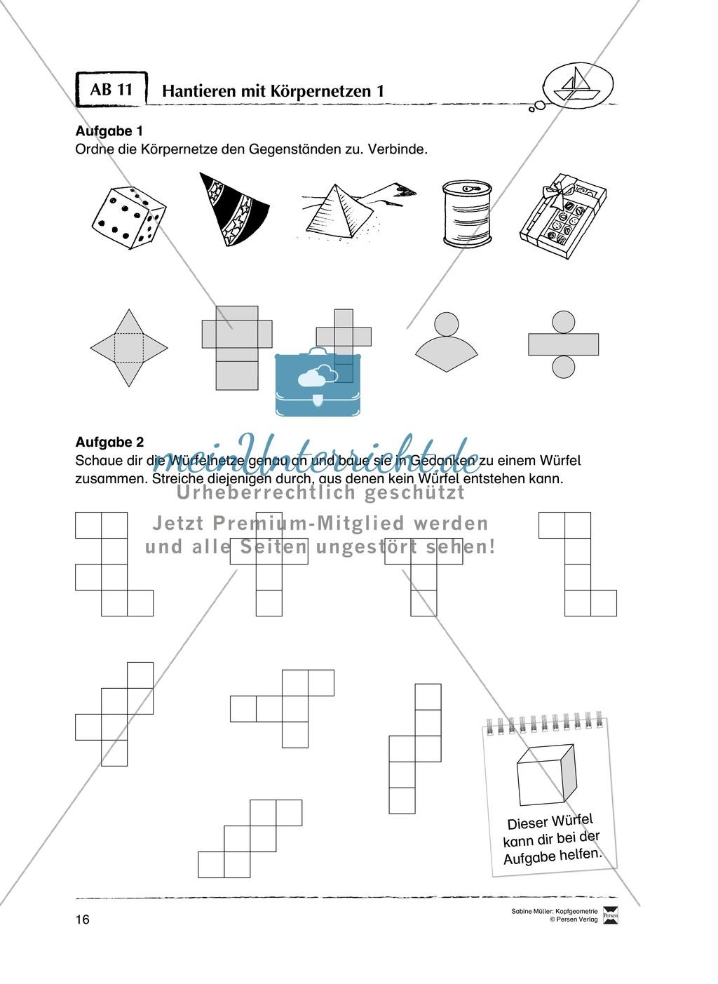 Arbeitsblätter zur Schulung des räumlichen Vorstellungsvermögens Preview 11
