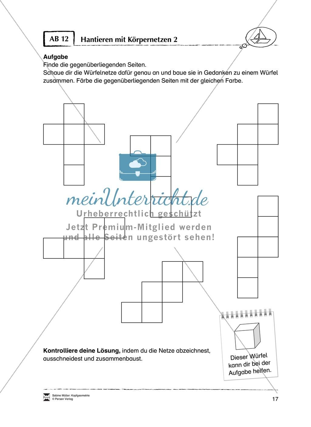 Arbeitsblätter zur Schulung des räumlichen Vorstellungsvermögens Preview 12