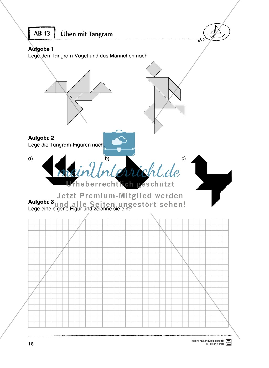 Colorful Tangram Arbeitsblatt Druckbare Frei Photo - Kindergarten ...